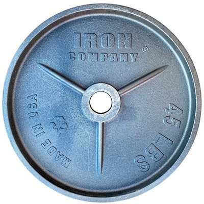 IRON COMPANY Deep Dish Olympic Plates and Weight Plates