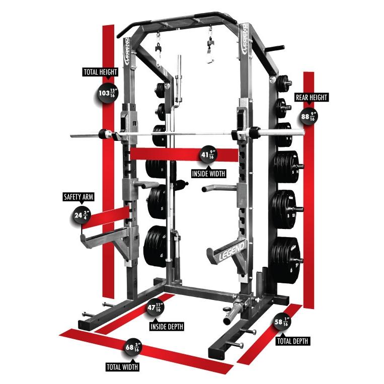 Legend Fitness 3226 Pro Series Half Squat Rack