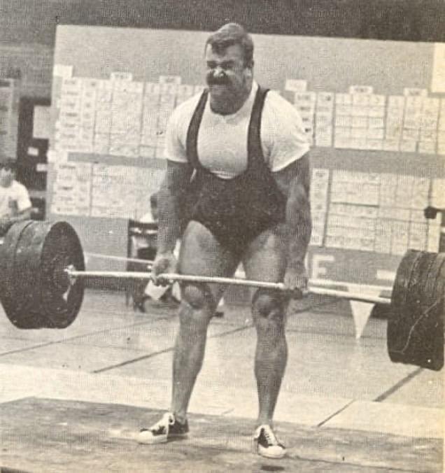 Powerlifter Hugh Cassidy Performing Barbell Deadlift