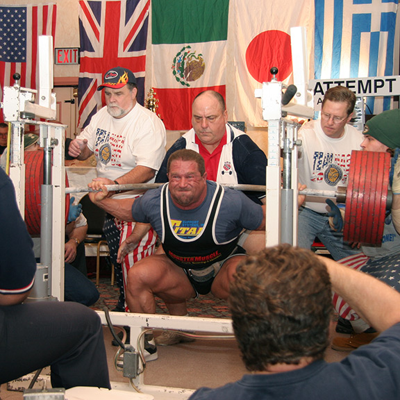 IRON COMPANY athlete and Powerlifting champion Kirk Karwoski is considered to be one of the greatest barbell squatters in powerlifting history and holds an IPF world record.