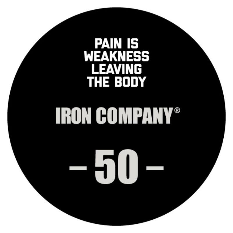 IRON COMPANY Laser Engraved Urethane Dumbbell Custom Logo 2