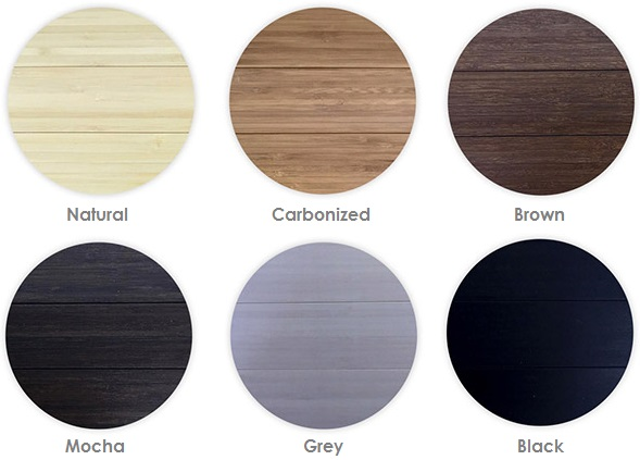 Alessco SoftWOODS Wide Slat Rolls Color Chart