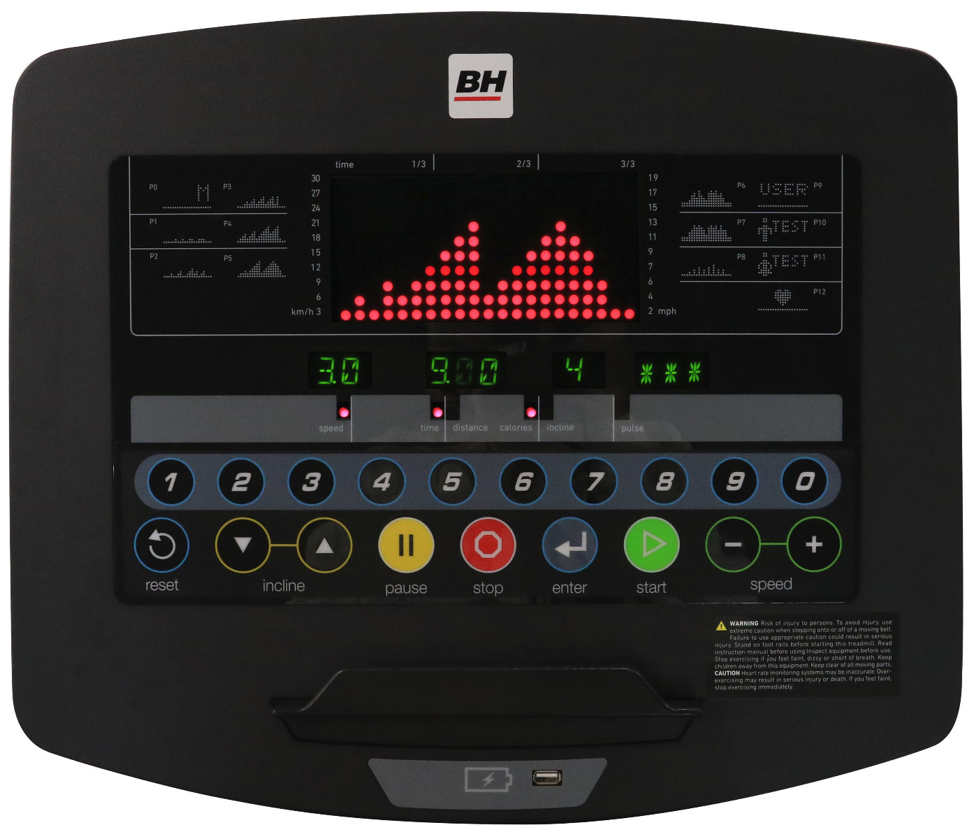 BH Fitness LK700T19LED Basic Console