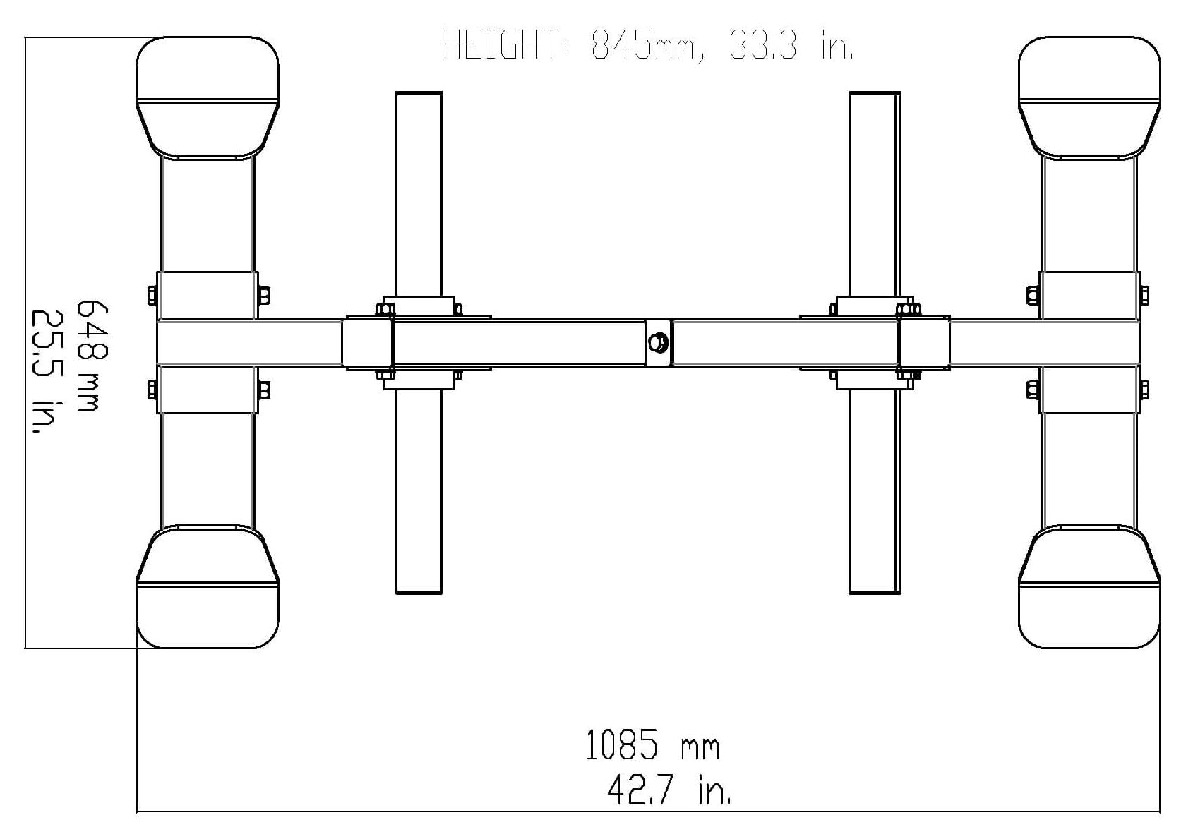 Body-Solid GWT66 Weight Tree Dimensions