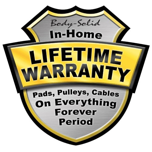 Body-Solid In-Home Lifetime Warranty