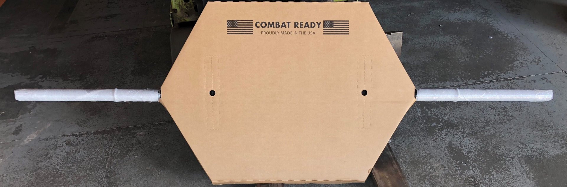 Combat Ready Hex Bar Shipping Packaging
