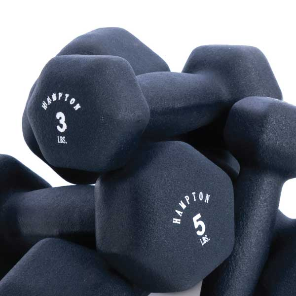 hampton fitness neo hex aerobic dumbbells