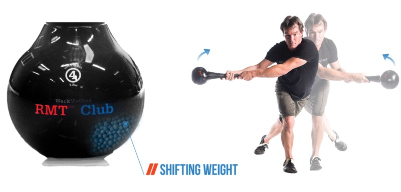 RMT Club with Internal Shifting Weight for Rotational Movement Training
