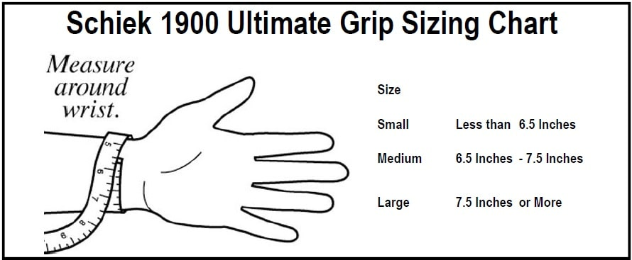 Schiek Sports 1900 Ultimate Grips Sizing Chart