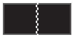 SHOK-LOK Anti-Shock Two-Piece Rubber Deadlift Mat diagram