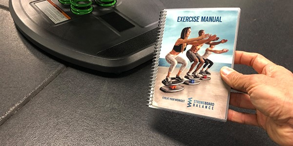StrongBoard Balance Laminated Exercise Manual In Use