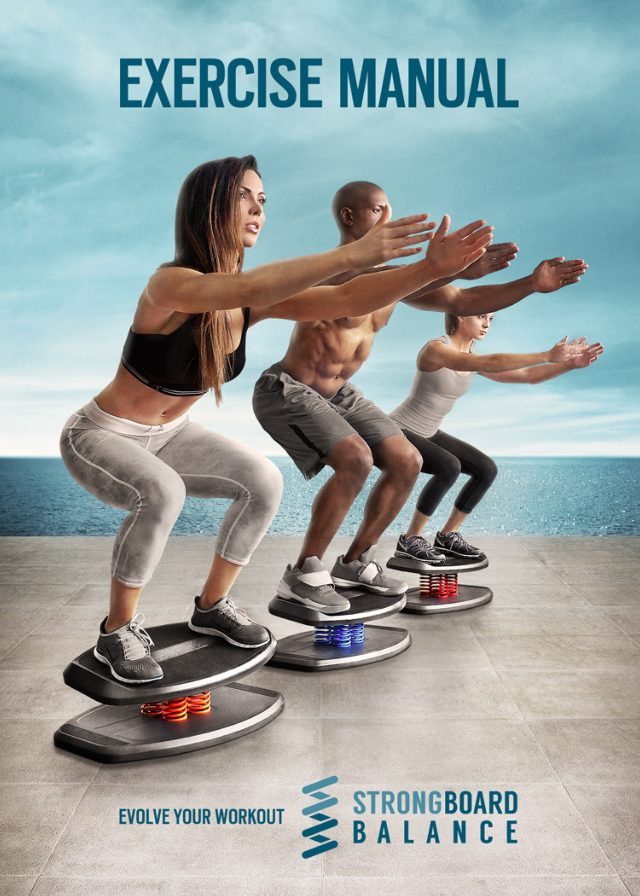 StrongBoard Balance Laminated Exercise Manual