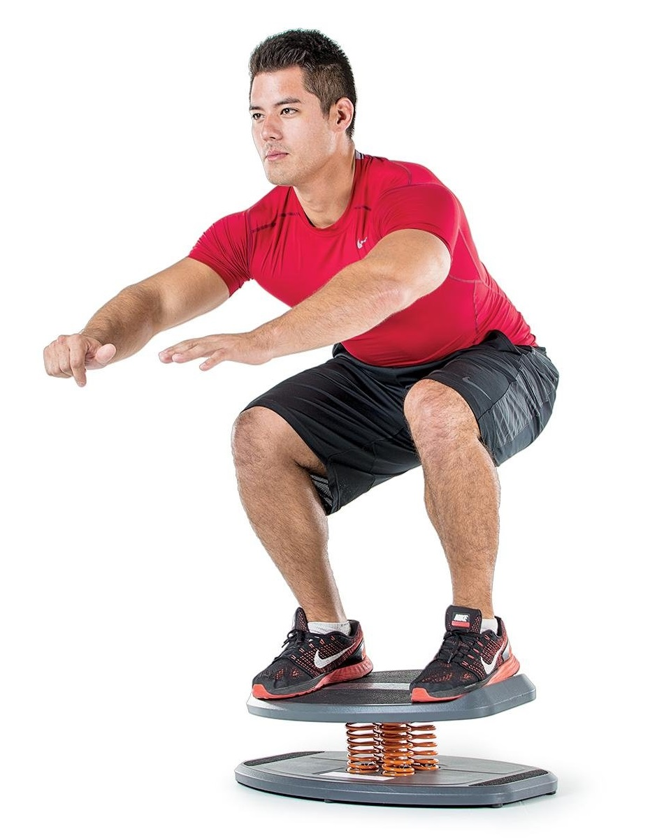 StrongBoard Balance Trainer with Spring Fulcrum