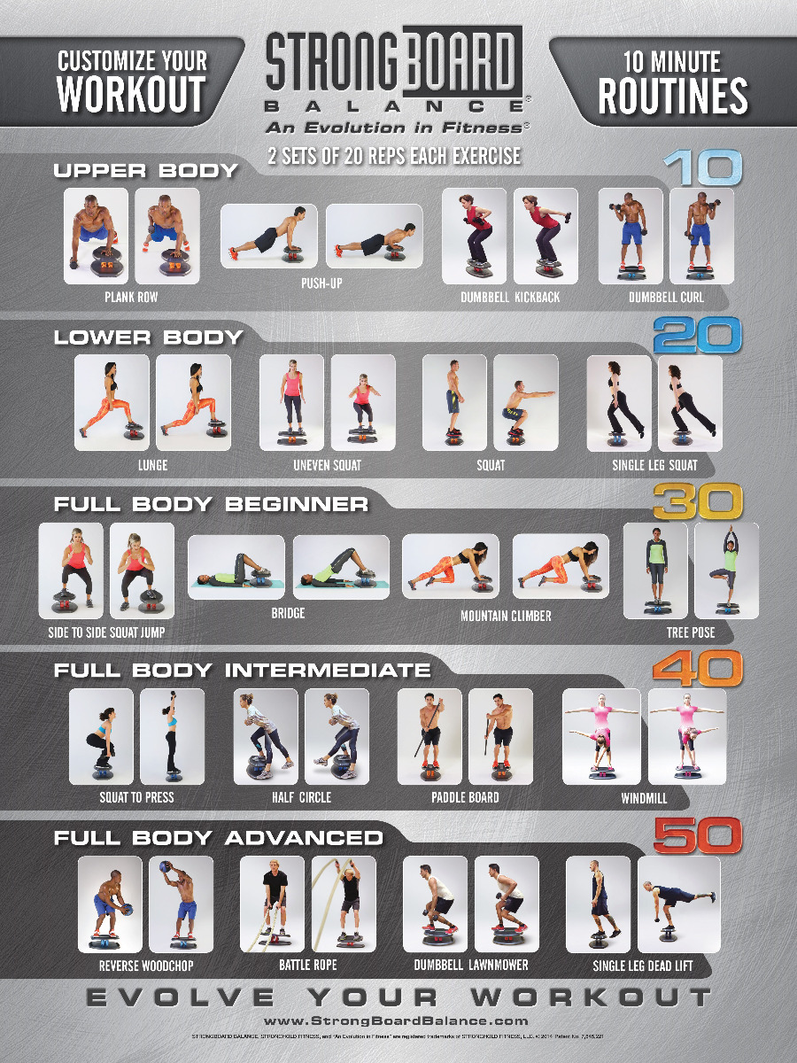 StrongBoard Balance Board Customize your Workout Poster