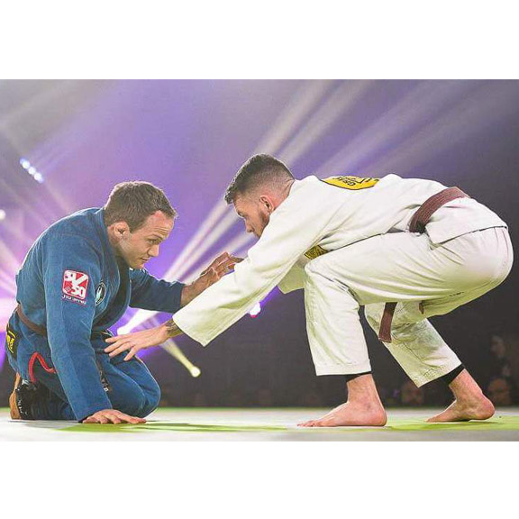IRON COMPANY athlete Tyler Brey in the first para jiu jitsu match in Fight to win history.