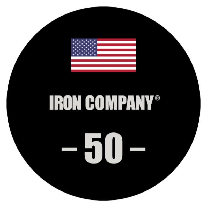 IRON COMPANY Laser Engraved Urethane Dumbbell Custom Logo 3