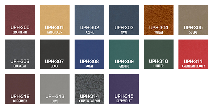 Tuff Stuff Bio-Arc Strength upholstery color chart