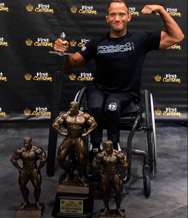 Tyler Brey wheelchair bodybuilder