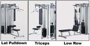 York Barbell cable crossover multi station options