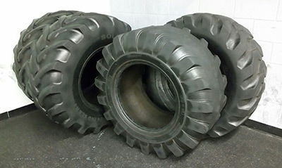 tractor tires at gym