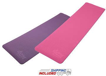 Aeromat Elite Reversible Two-Color Yoga Mat made from Closed Cell Foam