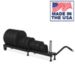 Horizontal Plate Rack with Wheels