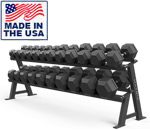 American Built AB-D697 Commercial Hex Dumbbell Rack for Clubs by Matrix