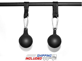 "4"" Diameter Steel Pull-Up Grip Balls - Cannonball Grips"