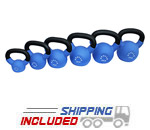 Apollo Athletics KBN Light Blue Neoprene Coated Kettlebells