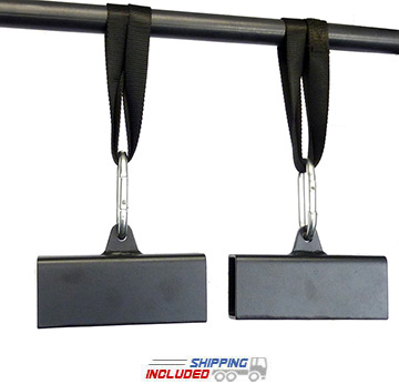 "2"" x 3"" Steel Beam Pinch Block Grips with Straps"
