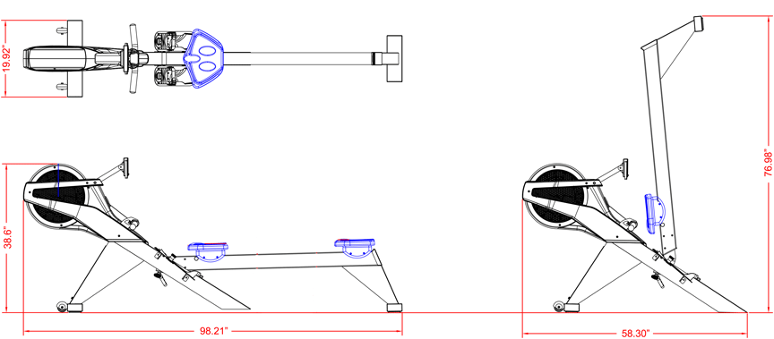 BodyCraft VR500 Pro Rowing Machine Specs