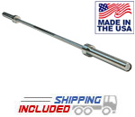 Body Solid USA Made OB86LPB Power Bar with Zinc Finish