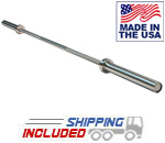 Body-Solid OB86PBG American Made High Strength Olympic Bar with Brass Bushings