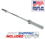 Body Solid OB86PBS USA Made Olympic Power Bar with High Tensile Strength Steel