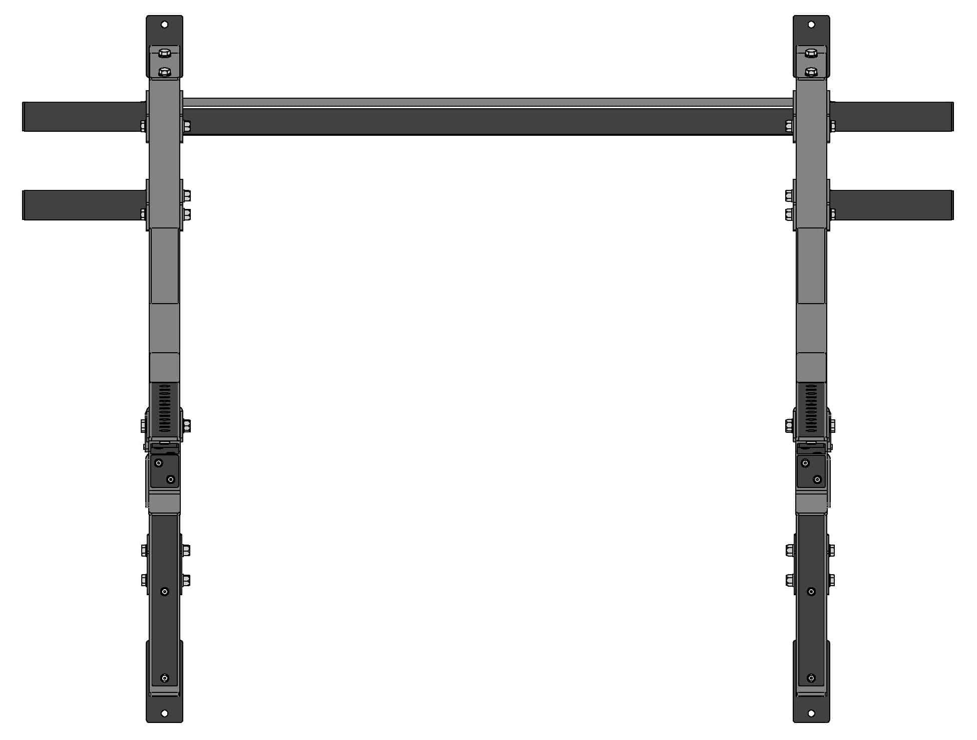 Body-Solid PMP150 Multi Press Rack Floor Plan Top View