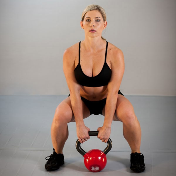 Body-Solid Vinyl Kettleball Squat