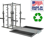 BOMB PROOF BP-98P Double Sided Half-Rack with Weightlifting Platform Insert