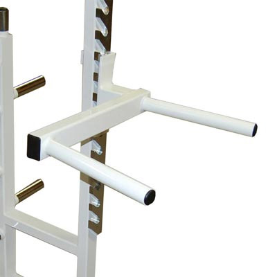 Optional Triceps Dip Attachment for Weightlifting Power Rack