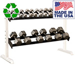 USA Made Bomb Proof BP-46 5' Two-Tier Dumbbell Rack