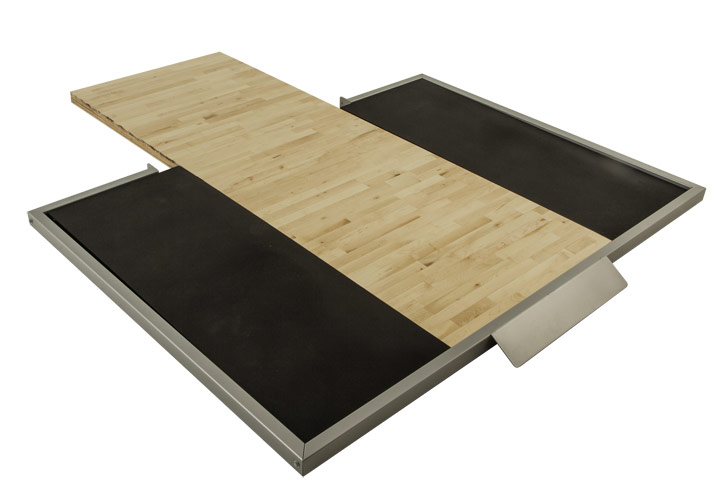BP-HD54B Power Clean Weightlifting Platform Insert for Half Racks and Cages