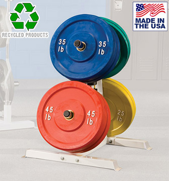 Bomb Proof BP-45 A-Frame Bumper Plate Tree for Commercial Gyms