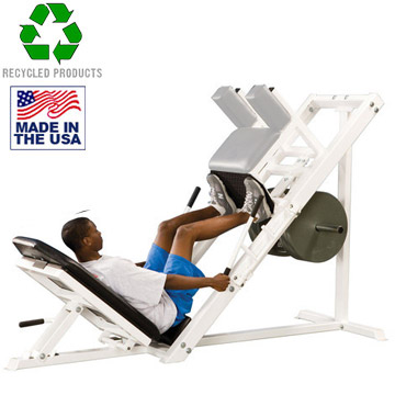 Bomb Proof BP-20A Plate Loaded 45 Degree Commercial Leg Press with Roller Carriage System