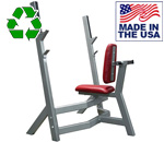 American Made Bomb Proof BP-4 Seated Olympic Military Shoulder Press Bench
