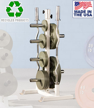 Bomb Proof BP-62 Olympic Plate Tree and Olympic Bar Holder