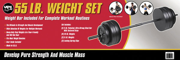 55lb weight set
