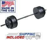 US Weight 55 lb. Traditional Weight Set