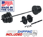 US Weight 105 lb. Traditional Weight Set with Dumbbells