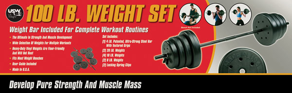 100lb weight set