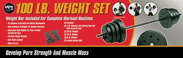 100lb weight set
