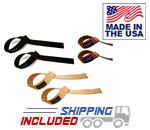 USA Made Genuine Leather Weightlifting Straps by Pioneer